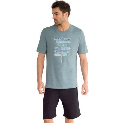 Pyjashort manches courtes, imprimé. ATHENA