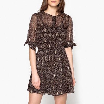 Madrid Printed Silk Dress BA&SH