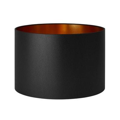 Abat-jour cylindrique Polyester SOLAS Noir et or MADURA