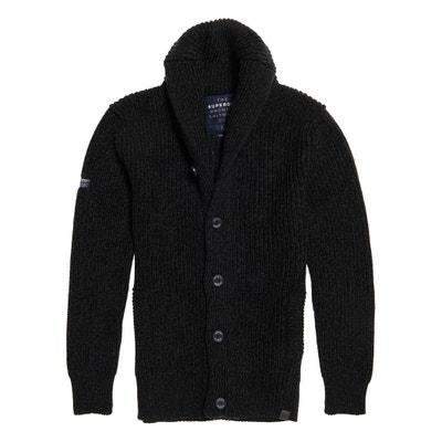 Sweter na guziki, z grubej dzianiny JACOB Sweter na guziki, z grubej dzianiny JACOB SUPERDRY
