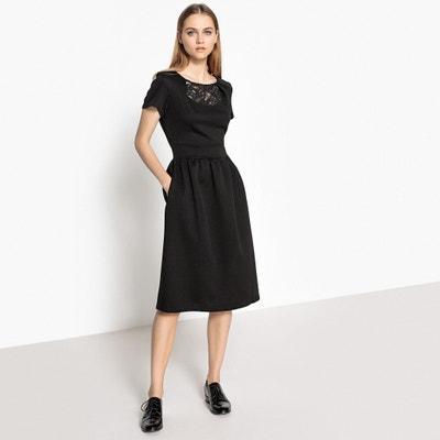 Платье однотонное с вырезом спереди и спинкой из кружева MADEMOISELLE R