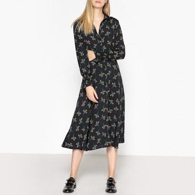 Flore Long-Sleeved Printed Shirt Dress BA&SH