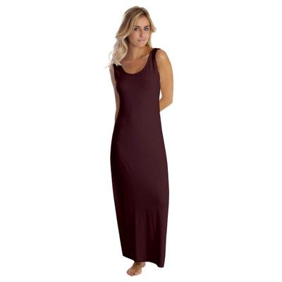 af3b880683829 Robe longue col danseuse sans manches en modal GILDA Robe longue col  danseuse sans manches en