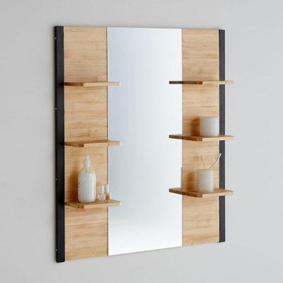Miroir De Salle Bains Pin Massif Mtal Hiba