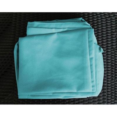 Jeu de Housses tissu bleu pour Bain de Soleil DARWIN PIER IMPORT