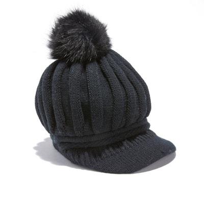 Bonnet casquette avec pompon Bonnet casquette avec pompon La Redoute Collections