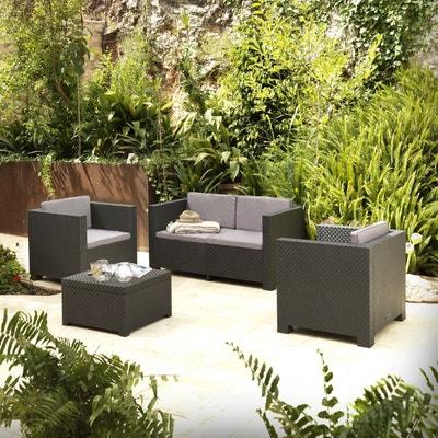 Salon jardin 4 places en solde   La Redoute