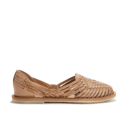 Сандалии кожаные плетеные на плоском каблуке PACHUCA Сандалии кожаные плетеные на плоском каблуке PACHUCA LEON and HARPER