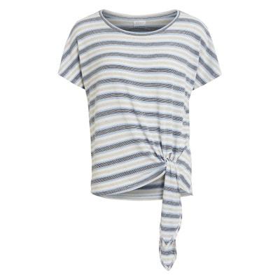 Tie Waist Striped T-Shirt VILA