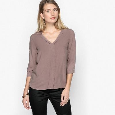V-Neck Blouse with 3/4 Length Sleeves V-Neck Blouse with 3/4 Length Sleeves ANNE WEYBURN