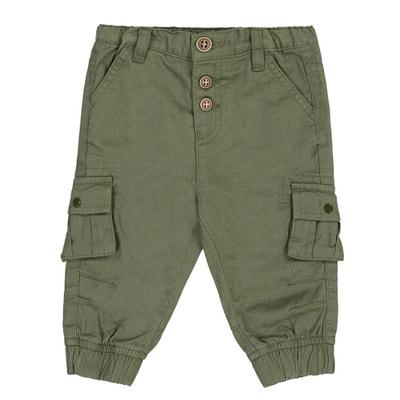 Pantaloni loose in twill 1 mese -3 anni Pantaloni loose in twill 1 mese -3 anni La Redoute Collections
