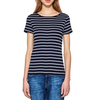 Short-Sleeved Crew Neck T-Shirt ESPRIT
