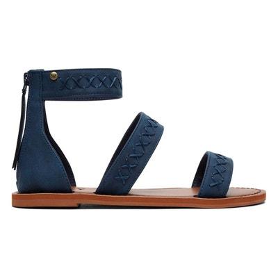 Sandales bleu marine en solde   La Redoute 63399f42aa82