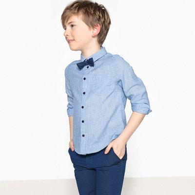 Camisa com gravata-borboleta, 3-12 anos Camisa com gravata-borboleta, 3-12 anos La Redoute Collections