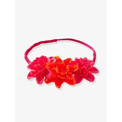 Headband tressé fille 3 fleurs VERTBAUDET