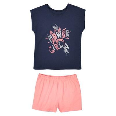 Pyjashort imprimé, 10 à 16 ans La Redoute Collections