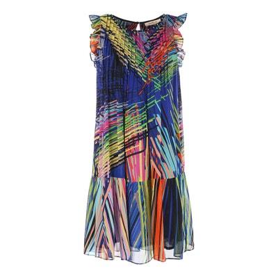 Wijd uitlopende jurk, grafische print RENE DERHY