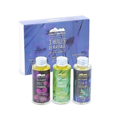 Coffret 3 huiles de massage NATURE ET DECOUVERTES