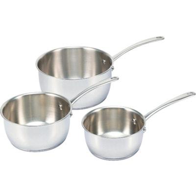 Belvia Stainless Steel Pans (Set of 3) Belvia Stainless Steel Pans (Set of 3) BEKA