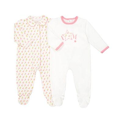 Pyjama coton naissance 0 mois-3 ans (lot de 2) Pyjama coton naissance 0 mois-3 ans (lot de 2) La Redoute Collections