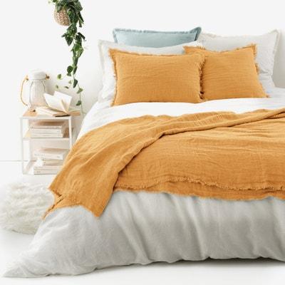 Narzuta na łóżko z pranego lnu, LINANGE La Redoute Interieurs