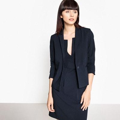 Veste blouson bleu marine femme