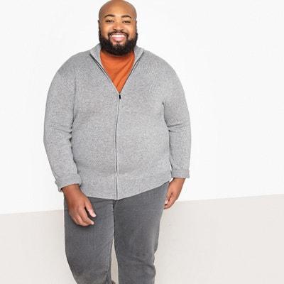 Sweter zapinany na zamek, wełna z domieszką, duże rozmiary Sweter zapinany na zamek, wełna z domieszką, duże rozmiary CASTALUNA FOR MEN