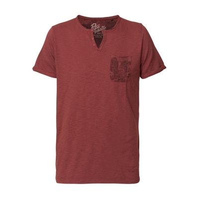 Tee shirt col tunisien uni, manches courtes PETROL INDUSTRIES