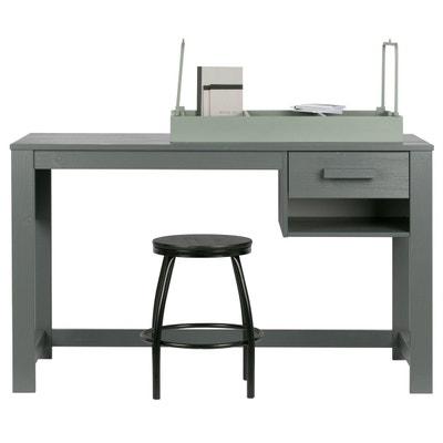 Bureau 125x75 1 tiroir Aaron gris acier ALFRED ET COMPAGNIE