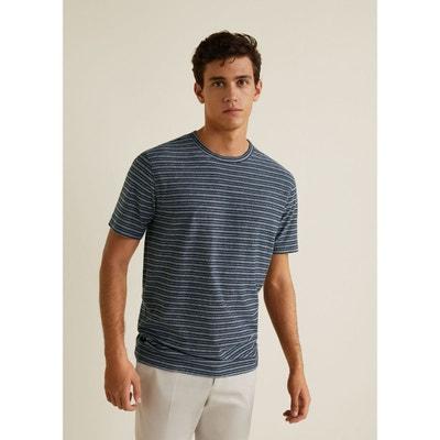 T-shirt coton à rayures T-shirt coton à rayures MANGO MAN. Soldes 13006072f16f