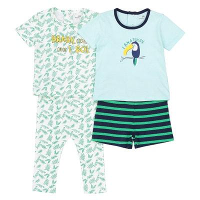 Pijama estampado, lote de 2, 0 meses - 3 años La Redoute Collections