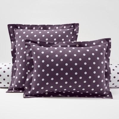 CLARISSE Polka Dot Cotton Flannel Pillowcase CLARISSE Polka Dot Cotton Flannel Pillowcase La Redoute Interieurs