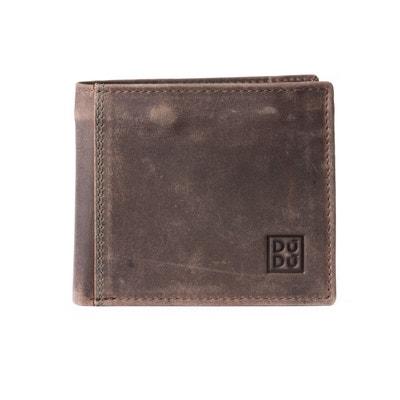 Petit portefeuille pour homme vintage en cuir avec poche zippée DUDU 4345118883a