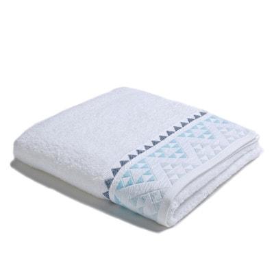 Toalha de banho grande SCANDI, barra com motivo triângulos, em algodão. Toalha de banho grande SCANDI, barra com motivo triângulos, em algodão. La Redoute Interieurs