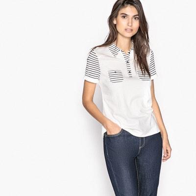 Striped Polo T-Shirt Striped Polo T-Shirt ANNE WEYBURN