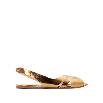 Doussou Flat Leather Sandals JONAK