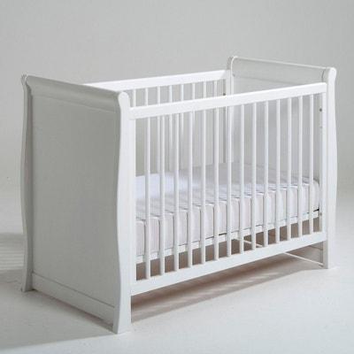 lit bebe blanc laque la redoute. Black Bedroom Furniture Sets. Home Design Ideas