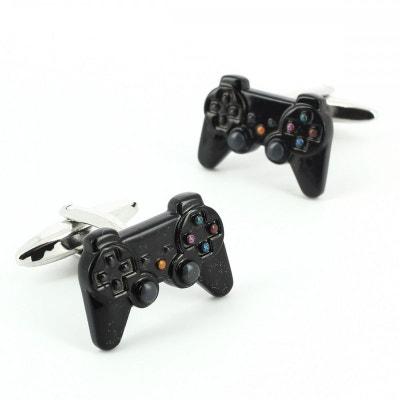 Bouton de Manchette, manette PS3 noir Bouton de Manchette, manette PS3 noir CRAVATE AVENUE SIGNATURE