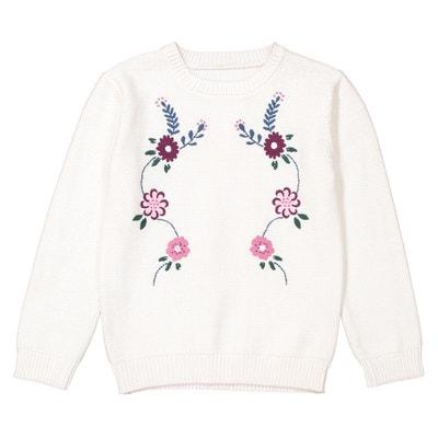 Sweter z cienkiej dzianiny z haftem 3-12 lat Sweter z cienkiej dzianiny z haftem 3-12 lat La Redoute Collections