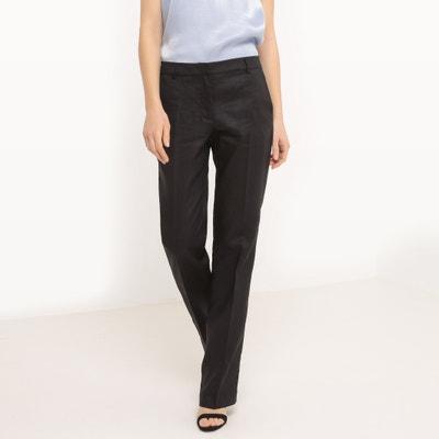 Pantaloni straight, Lino La Redoute Collections