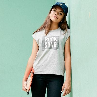 T-shirt manches courtes imprimé rock 10-16 ans T-shirt manches courtes imprimé rock 10-16 ans La Redoute Collections