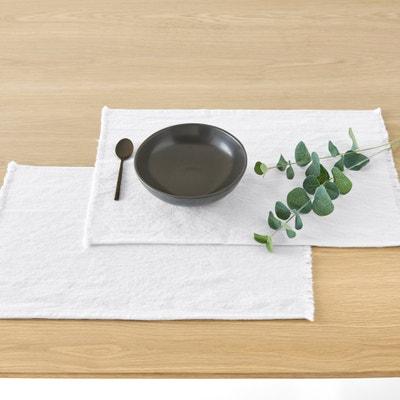 Podkładki z bawełny/lnu z frędzlami BELLO, 2 sztuki La Redoute Interieurs