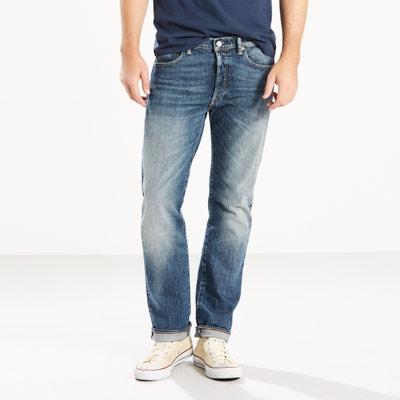 Jeans 501 regular, corte direito, em ganga Jeans 501 regular, corte direito, em ganga LEVI'S