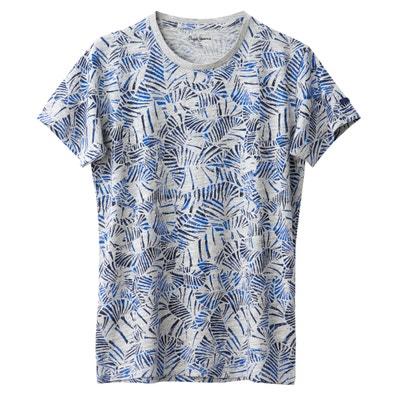 Bedrucktes T-Shirt, runder Ausschnitt, Traviss PEPE JEANS