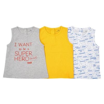Lot de 3 tshirts sans manches - 1 mois - 3 ans Lot de 3 tshirts sans manches - 1 mois - 3 ans La Redoute Collections