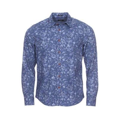 Chemise cintrée Pritchard en coton à motif floral PEPE JEANS a280f942f8c3