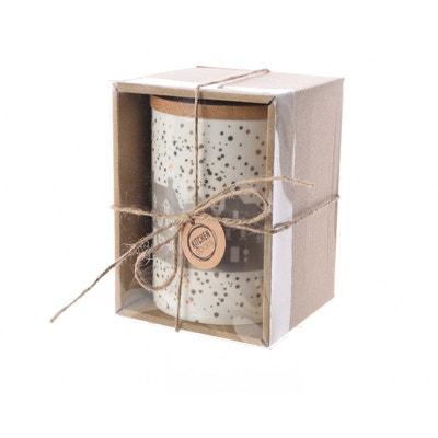 Boîte alimentaire porcelaine avec couvercle bambou MAISON ROUSSOT