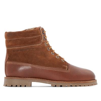 Boots in leer COMBAT COMBI PEPE JEANS