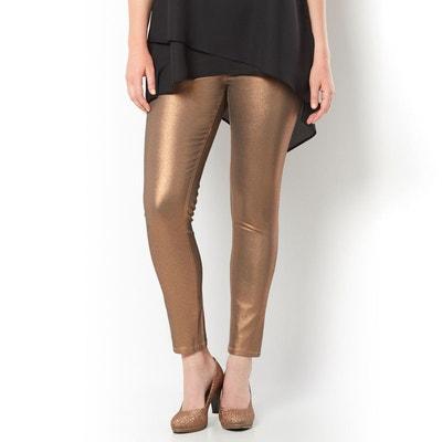 Pantalon slim enduit couleur cuivre Pantalon slim enduit couleur cuivre  CASTALUNA. Soldes cc32c0f62414