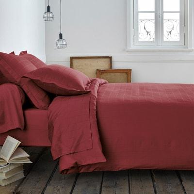 Satin Duvet Cover with Large Checks La Redoute Interieurs